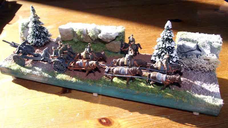 "Diorama ""Artillerie Gespann"""