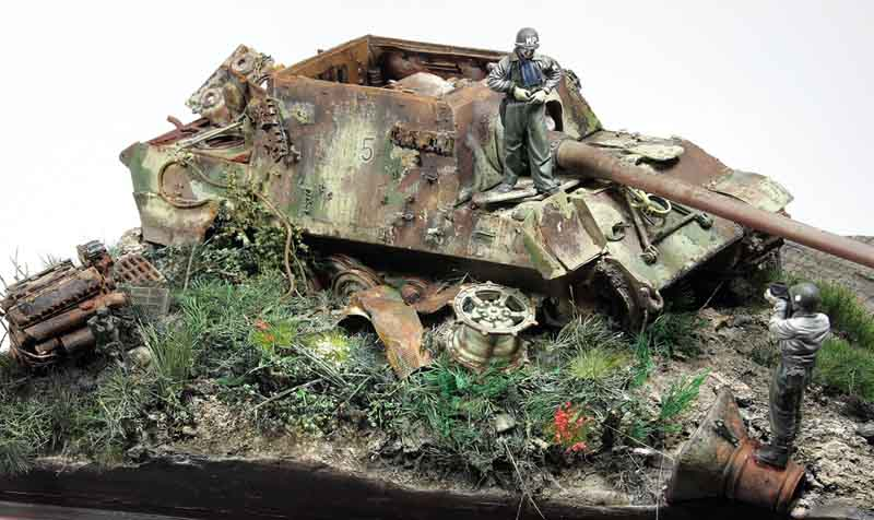 diorama jagdpanzer vi jagdtiger sd 39 and a man. Black Bedroom Furniture Sets. Home Design Ideas